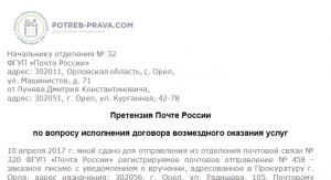 Переадресация почта россии