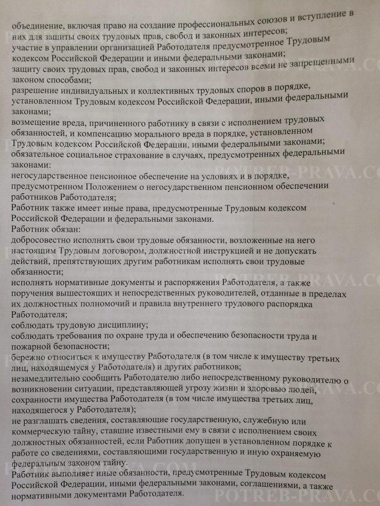 Пример заполнения трудового договора (2)