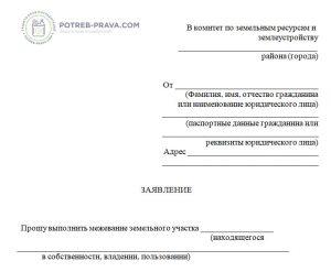 Изображение - Причины, по которым на кадастровой карте может не быть участка zayvlenie-08-300x247